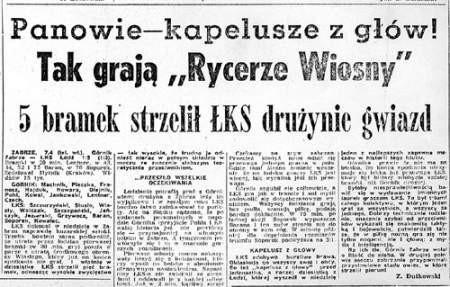 """Kapelusze z głów przed ŁKS. Tak grają """"Rycerze Wiosny"""""""