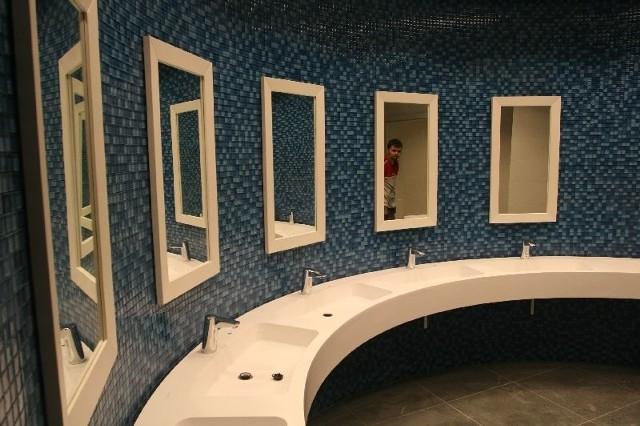 Łazienki dla gości Galerii Korona Kielce są juz praktycznie skończone. Fot. Łukasz Zarzycki
