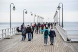 Spacerem po Gdyni. Sobota dość chłodna, ale chętnych do pieszych wędrówek nie zabrakło