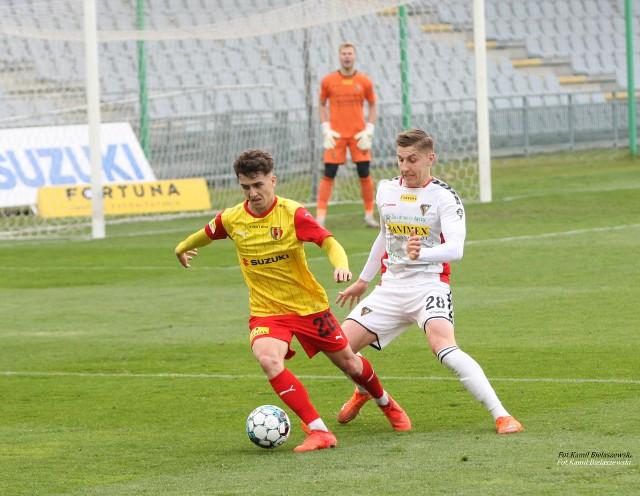Marcin Szpakowski zdobył drugą bramkę dla Korony w meczu z Bruk-Betem, przegranym 2:6.