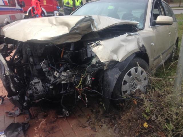 Tołcze. Wypadek na drodze wojewódzkiej nr 678, niedaleko Łap.