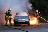 Świątniki, gmina Wodzisław. Pożar samochodu na trasie S7. Utrudnienia w ruchu