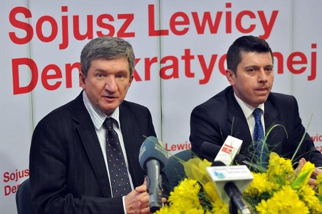 W środę w Tarnobrzegu gościł wicemarszałek Sejmu RP, poseł Sojuszu Lewicy Demokratycznej, Jerzy Wenderlich (z lewej). Po prawej stronie poseł Sojuszu z okręgu rzeszowsko-tarnobrzeskiego, Tomasz Kamiński.