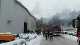 Pożar w Narwi. Paliła się lakiernia w firmie Pronar. Ewakuowano pracowników [ZDJĘCIA]