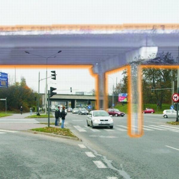 Tak miałby wyglądać wiadukt nad skrzyżowaniem ulic Grunwaldzkiej - Żelaznej - Żytniej - Armii Krajowej.