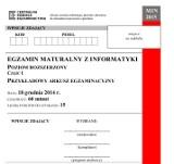 Próbna matura 2014/2015 z CKE - informatyka (p. rozszerzony) [ARKUSZE, ODPOWIEDZI]