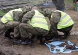 Wrocław: Pracowity dzień saperów. Znaleziono pociski, granat i amunicję strzelecką