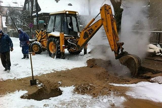 Pracownicy MPEC natychmiast przystąpili do usuwania skutków awarii.