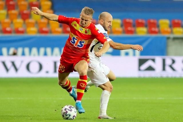 Paweł Olszewski (z lewej) odgrywa w Jagiellonii coraz większą rolę