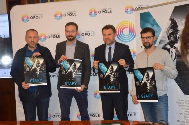 Na zdjęciu od lewej: Sławoj Dubiel, Michał Grocholski, prezydent Opola Arkadiusz Wiśniewski oraz Sławomir Mielnik.