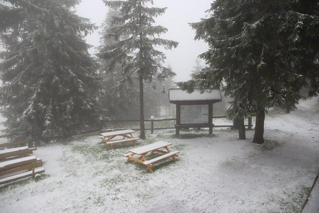 Pierwszy śnieg w Beskidach w tym roku spadł wyjątkowo szybko