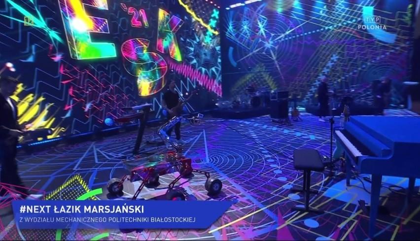 Politechnika Białostocka. Stworzony przez studentów analog łazika marsjańskiego wystąpił na scenie z Margaret (zdjęcia)