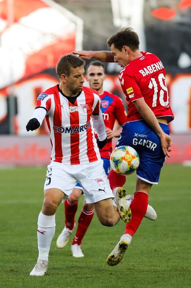 Janusz Gol podczas meczu Cracovia - Raków