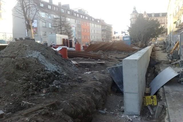 Nowa fontanna i przebudowany skwer  miały być gotowe w grudniu. Zamiast tego jest plac budowy.