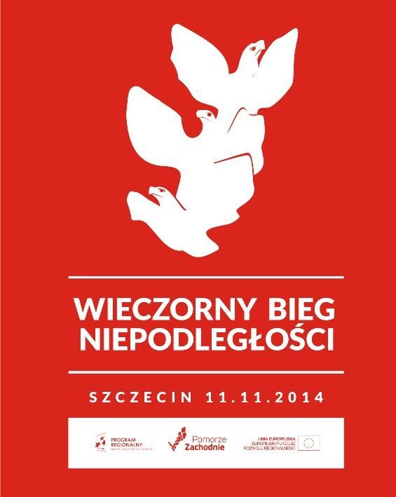 Wieczorny Bieg Niepodległości w Szczecinie.