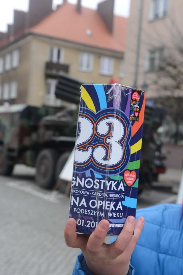 Artylerzyści z Sulechowa w przeszłości wspierali Orkiestrę.  W 23. finale  dwa lata temu prezentowali nawet sprzęt wojskowy.