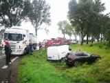 Groźny wypadek na drodze nr 8 Wrocław - Kłodzko (ZDJĘCIA)