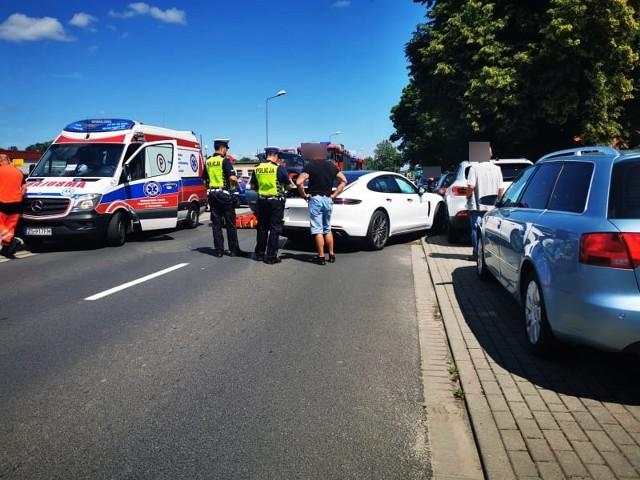 Wypadek na ulicy Lechickiej w Koszalinie.