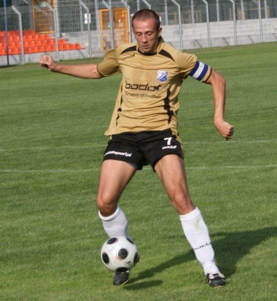 Kapitan MKS-u Dawid Nowacki.