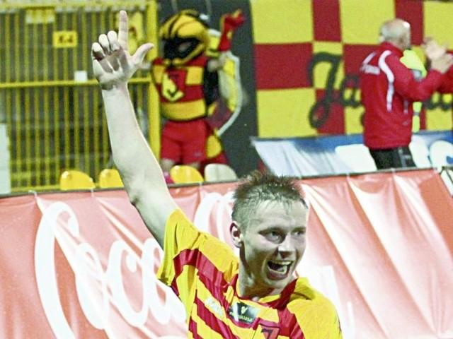 Tak Tomasz Kupisz fetował strzelonego przez siebie gola w wygranym 2:0 jesiennym meczu Jagi z Zagłębiem. Oby w sobotę białostoczanin skopiował swój wyczyn.