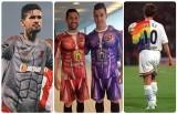 Najbardziej nietypowe koszulki piłkarskie w historii. Hity czy kity? [ZDJĘCIA]