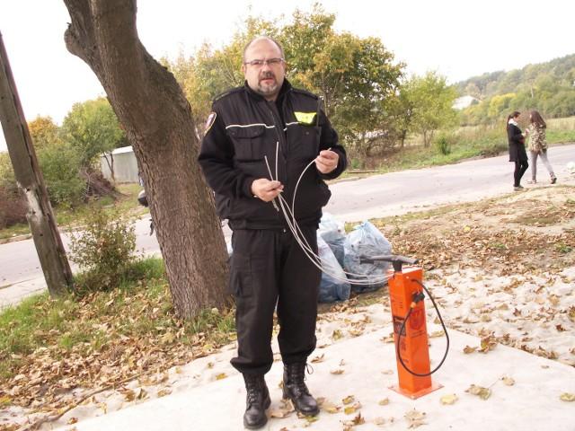 Publiczna Stacja Naprawy Rowerów powstała z inicjatywy i za pieniądze mieszkańców Osiedla za Moreną w Mosinie