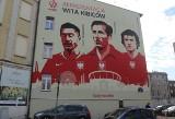 Lewandowski, Lubański i Cieślik: Mural z piłkarzami w Chorzowie. To pierwszy taki projekt PZPN ZDJĘCIA