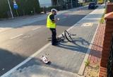 Ostrołęka. Potrącenie rowerzystki przy ul. Padlewskiego, 19.07.2021. Kobieta wjechała na przejście dla pieszych. Zdjęcia