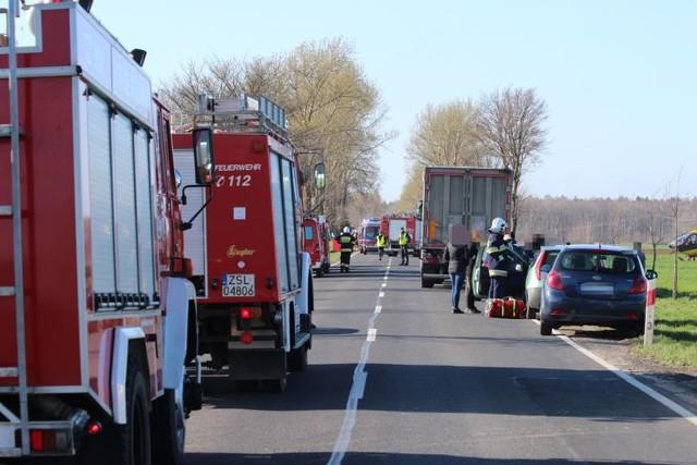 Tragiczny wypadek w Słowinie 17.04.2018