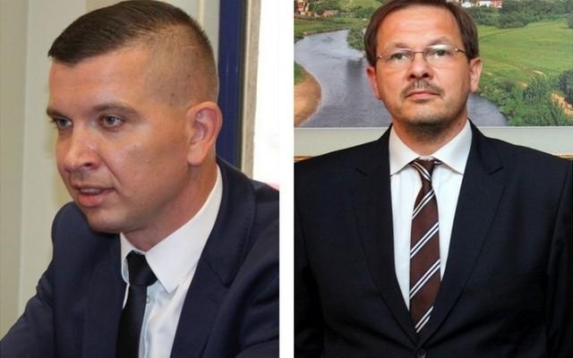 Mariusz Konopka (MPWiK) i Radosław Żegalski (MPEC).