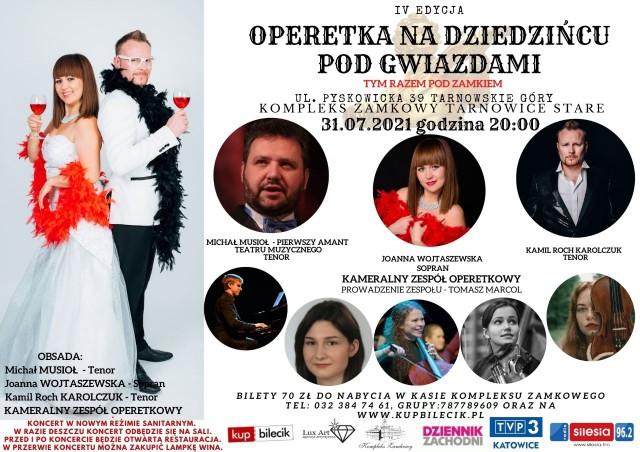 Operetka na dziedzińcu pod gwiazdami w Tarnowskich Górach. Przed nami czwarta edycja tego wyjątkowego spektaklu!