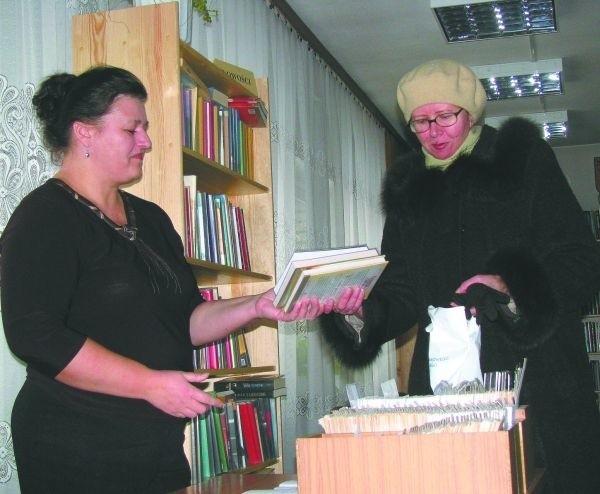 Do biblioteki przychodzę raz na dwa tygodnie albo i częściej – mówi Bożena Kondracka