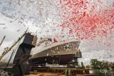 ORP Albatros zwodowany i ochrzczony w stoczni Remontowej Shipbuilding. Stępka pod ORP Mewa [zdjęcia]