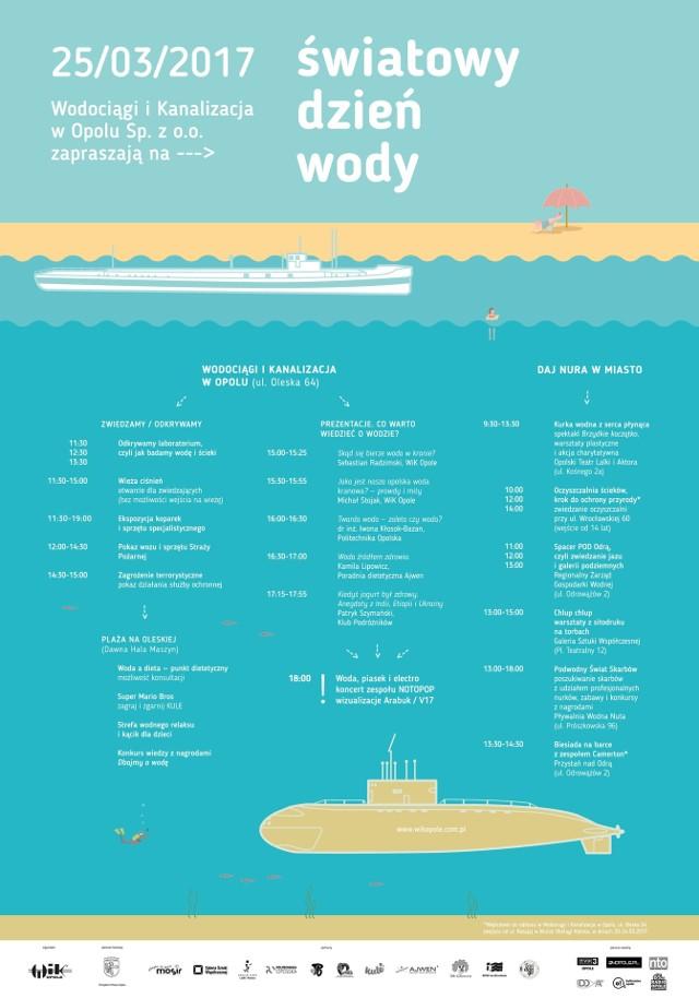 Plan wydarzeń z okazji Światowego Dnia Wody w Opolu.