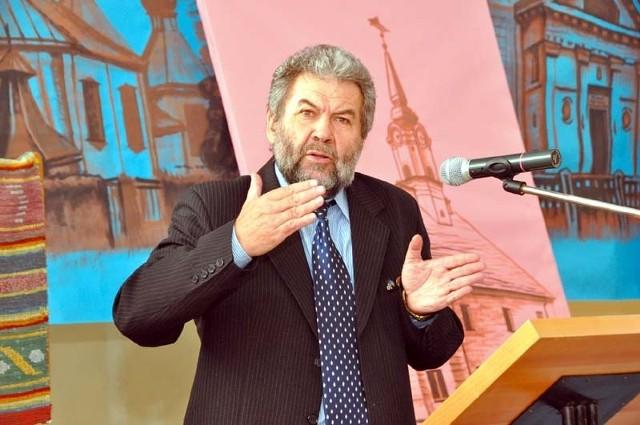 , wygłosił główny wykład na temat wielokulturowości w naszym regionie wygłosił