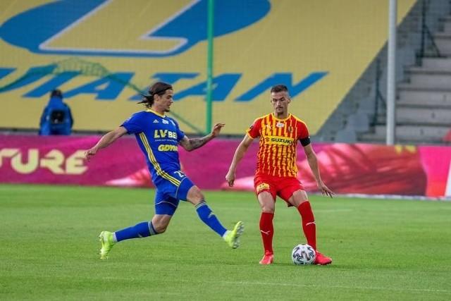 Oskar Zawada, podobnie, jak cała Arka Gdynia, nie zaliczy meczu w Kielcach do udanych. Remis w tym spotkaniu to ogromny zawód.