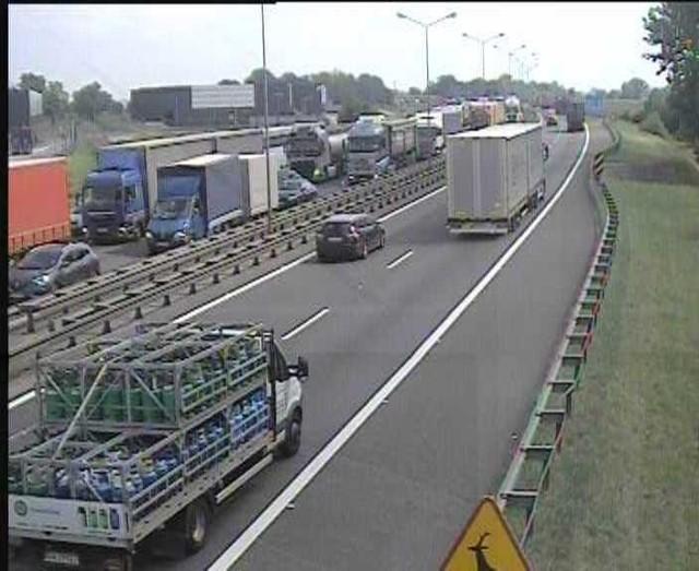 Widok z kamery GDDKiA na autostradzie A4