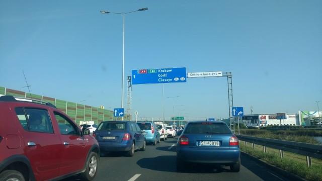 Korek na A4 w Katowicach 15 września 2020 r.