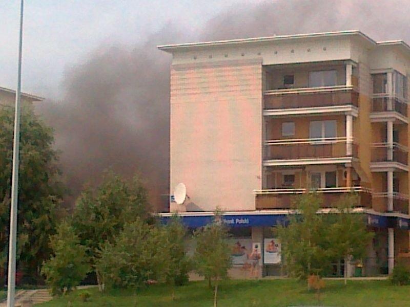 Pożar przy ulicy Pileckiego.