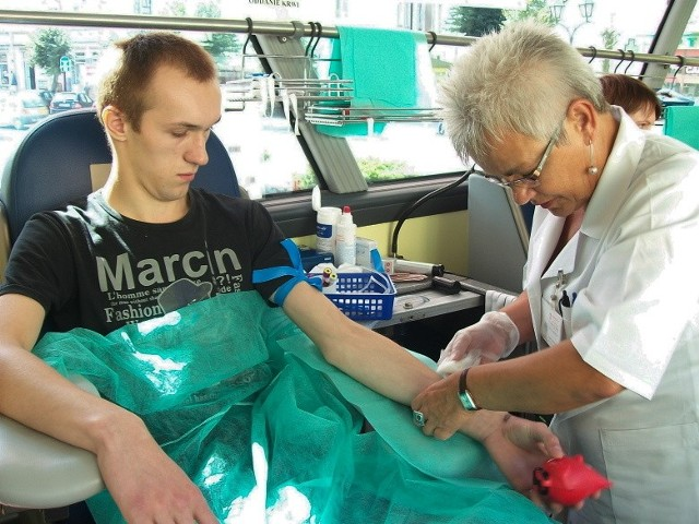 Marcin Cybuski z Ładnówka oddaje krew już po raz piąty