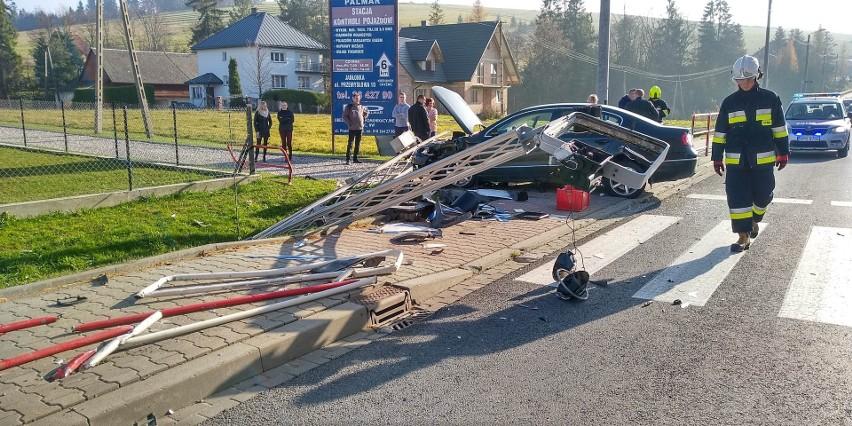 Wypadek Na Chyżniance Auto Wjechało W Przejście Dla