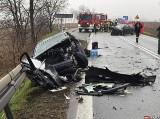 Tragiczny wypadek w Rudniku. W czołowym zderzeniu na DK45 Racibórz - Opole zginął pasażer auta