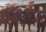 Kielecka Straż Ochrony Kolei podjęła wyzwanie. Pompki robił też owczarek Baster! [WIDEO]
