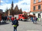 Wrocław: Alarm przeciwpożarowy w Rynku