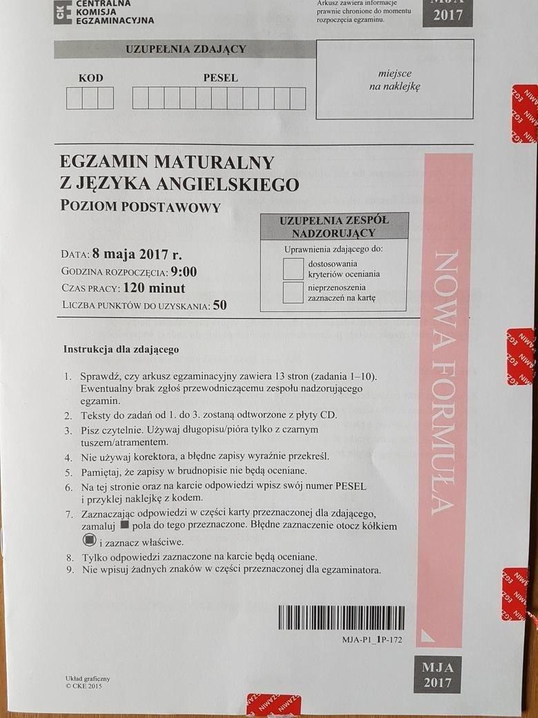 matura język angielski 2008