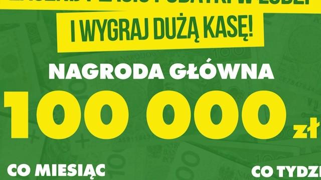 Tylko do niedzieli 31 maja 2020 można wziąć udział w Wielkiej Loterii Podatkowej, którą organizuje Łódź. To szansa dla tych, którzy chcą płacić podatki w Łodzi, a do tej pory tego nie robili. Nagroda główna to 100 tys. zł.CZYTAJ DALEJ NA NASTĘPNYM SLAJDZIE