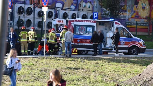 Miejsce wypadku na ul. Piekarskiej.