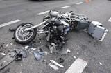 Popowo Letnisko. Wypadek z udziałem motocyklisty. Policja apeluje. Zdjęcia