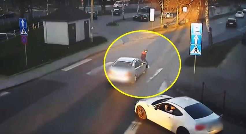 Mężczyzna z cofniętymi uprawnieniami do kierowania potrącił kobietę na przejściu dla pieszych w Myślenicach. Poszkodowana ma złamane trzy kręgi szyjne.