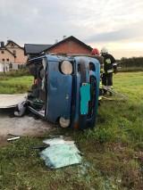 Daewoo matiz dachował na S8 w gminie Wolbórz. Do groźnie wyglądający wypadek (kolizja) na S8